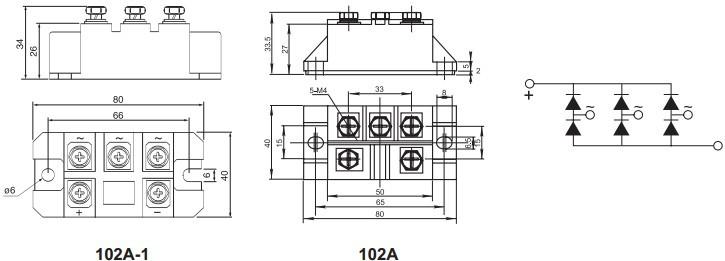 t j(℃) 最小 典型 最大   i o 直流输出电流 三相全波整流电路