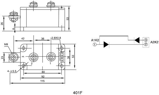 mdx300a1600v光伏防反二极管整流模块